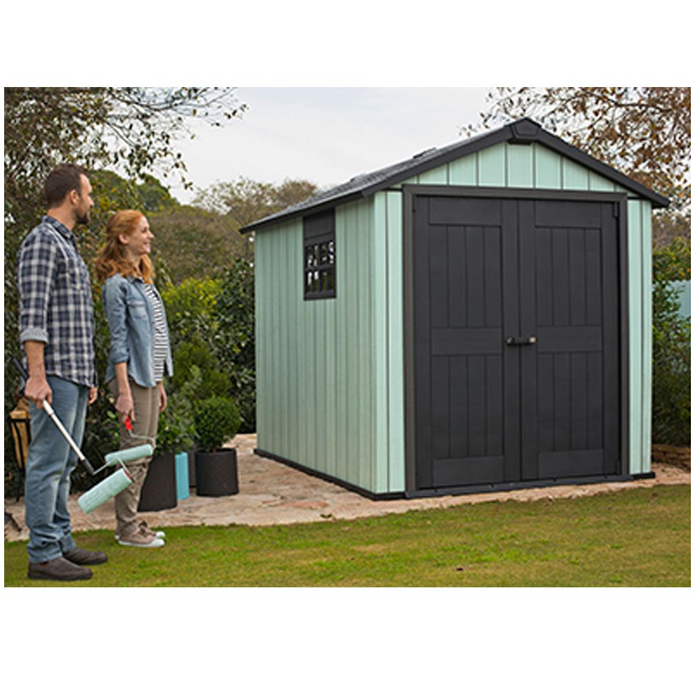 abri de jardin r sine keter m ep 20 mm brossium colis 227 x 132 x 39 cm gamm vert. Black Bedroom Furniture Sets. Home Design Ideas