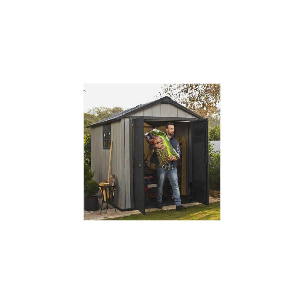 Abri de jardin r sine keter m brossium colis 227 x 132 x 46 cm gamm vert - Abri de jardin en resine keter ...