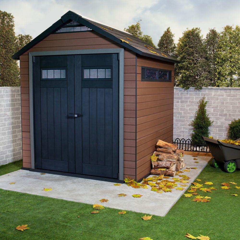 abri de jardin composite keter m mm fusion 4 colis 227 x 132 x 37 cm gamm vert. Black Bedroom Furniture Sets. Home Design Ideas