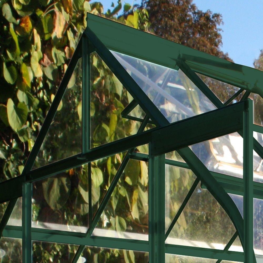 Serre de jardin Supreme verre trempé 11.4m² + embase - Halls Palette ...