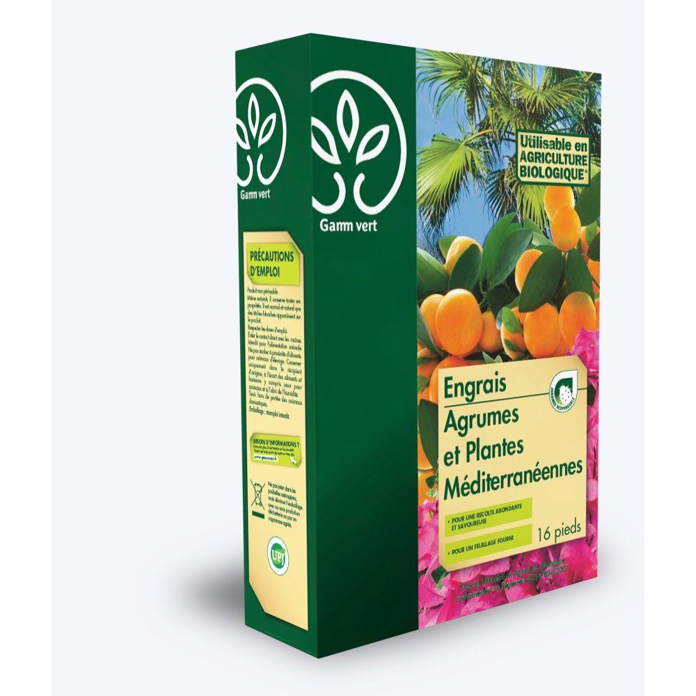 Engrais agrumes et plantes méditerranéennes 800g - Gamm vert boite ...
