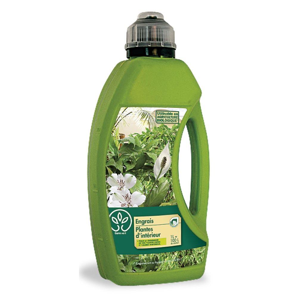 engrais plantes d 39 int rieur 1l gamm vert bidon de 1 litre gamm vert. Black Bedroom Furniture Sets. Home Design Ideas