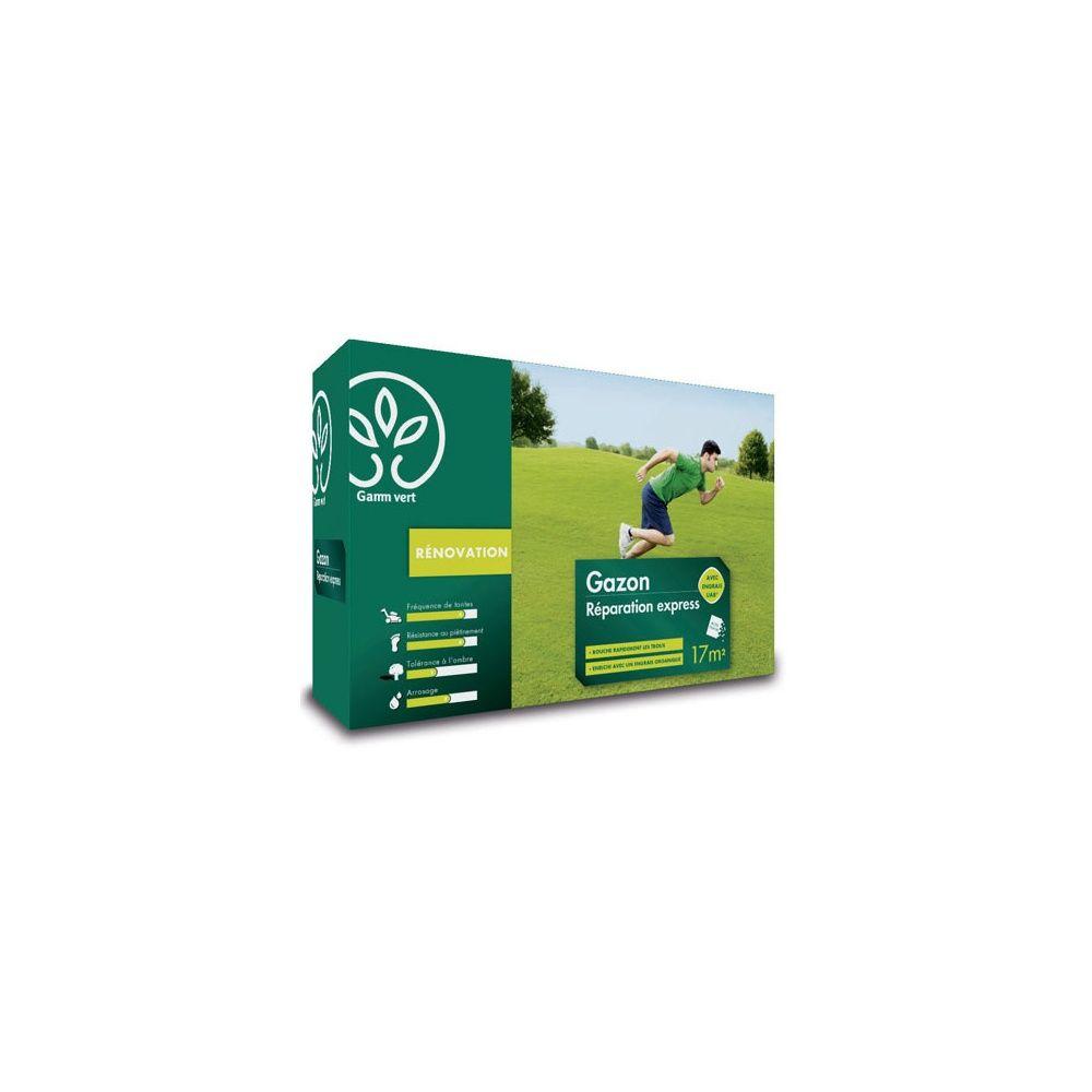 Gazon r paration express 500g avec engrais gamm vert for Gazon artificiel gamm vert