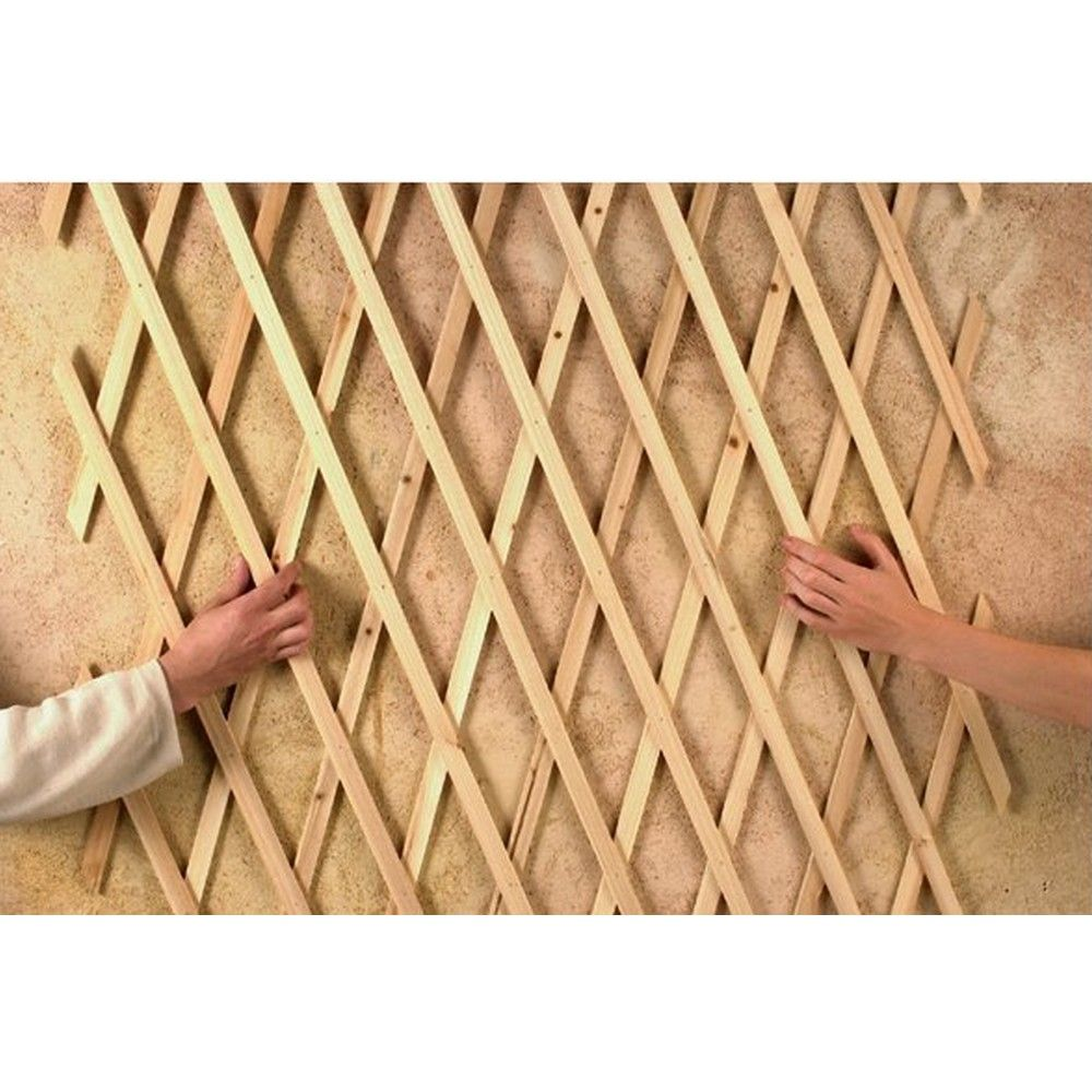 treillis extensible treilliwood bois naturel 150x50 cm gamm vert. Black Bedroom Furniture Sets. Home Design Ideas