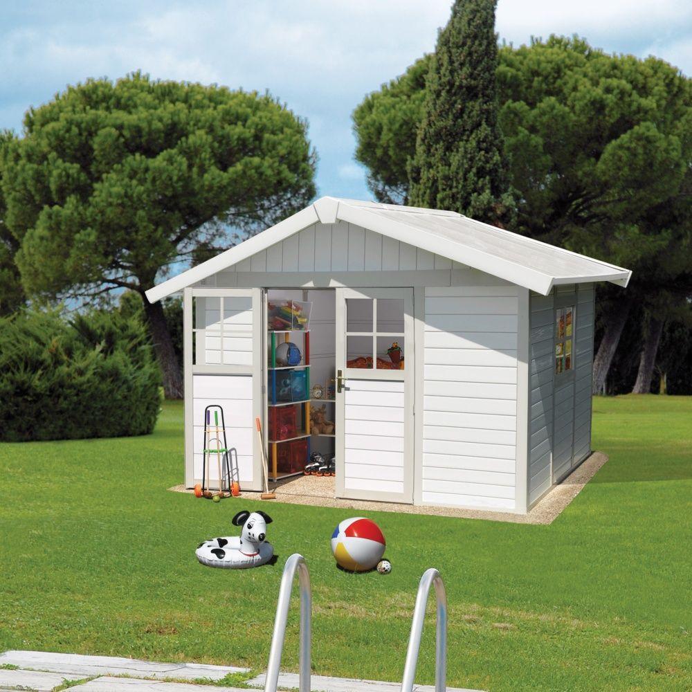 Abri de jardin r sine grosfillex 7 53 m mm deco for Deco jardin resine