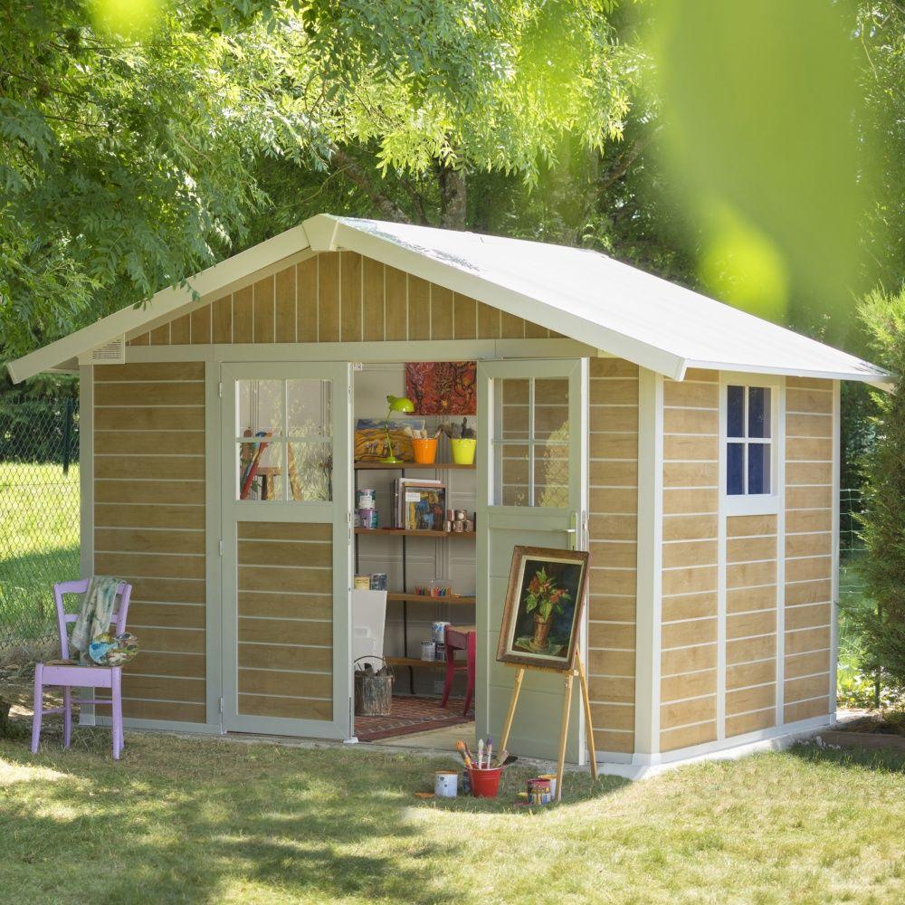 abri de jardin r sine grosfillex 7 53 m ep 26 mm sherwood colis l 80 x l 120 x h 200 cm. Black Bedroom Furniture Sets. Home Design Ideas