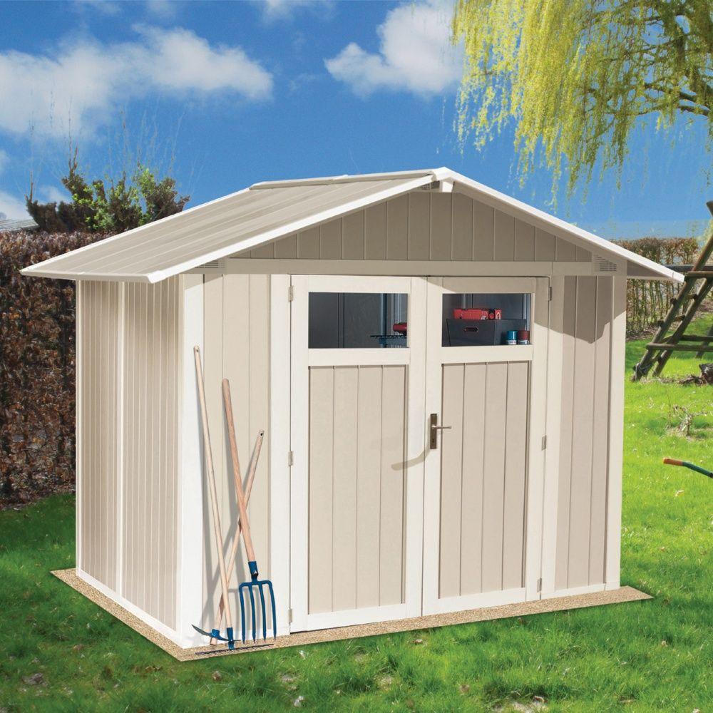 petit abri de jardin r sine grosfillex 4 m ep 26 mm utility gris vert colis l 60 x l 120 x h. Black Bedroom Furniture Sets. Home Design Ideas