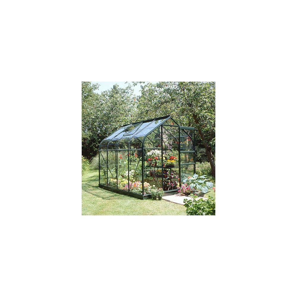 Serre de jardin Supreme verre trempé 5 m² vert - Halls 5 colis ...