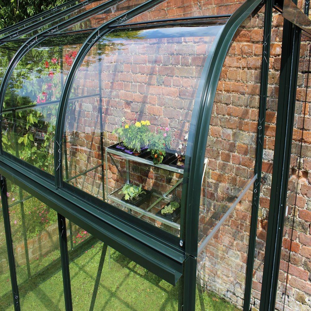 serre adoss e silverline 7 5 m verre tremp vert. Black Bedroom Furniture Sets. Home Design Ideas