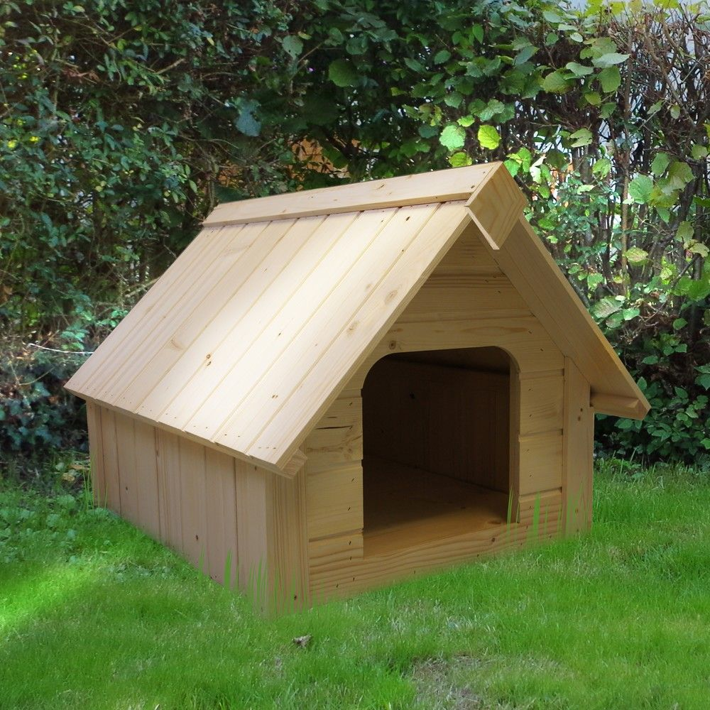 niche pour petit chien bois 1 colis 94 x 64 x 20 5 cm. Black Bedroom Furniture Sets. Home Design Ideas