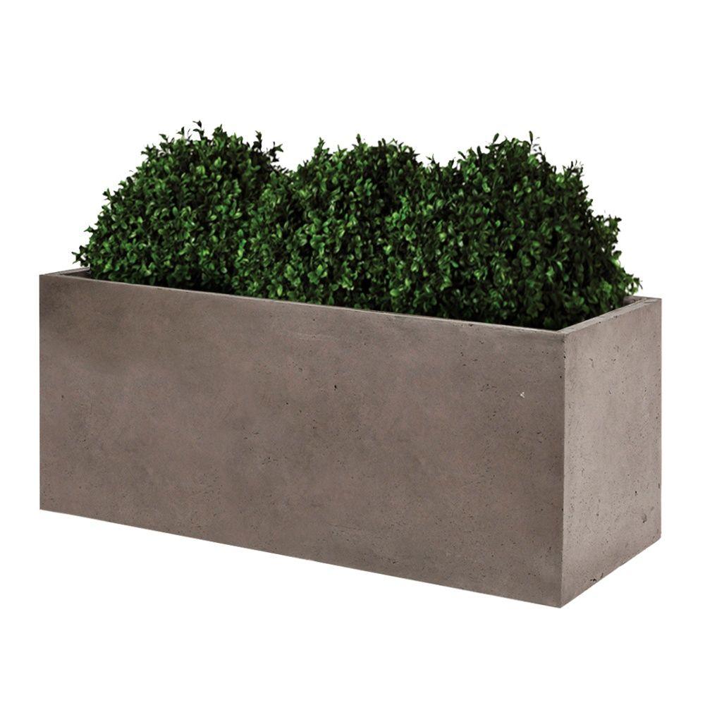 bac fleurs fibre de terre clayfibre l100 h50 cm taupe colis l 101 x l 36 x h 51 cm gamm vert. Black Bedroom Furniture Sets. Home Design Ideas