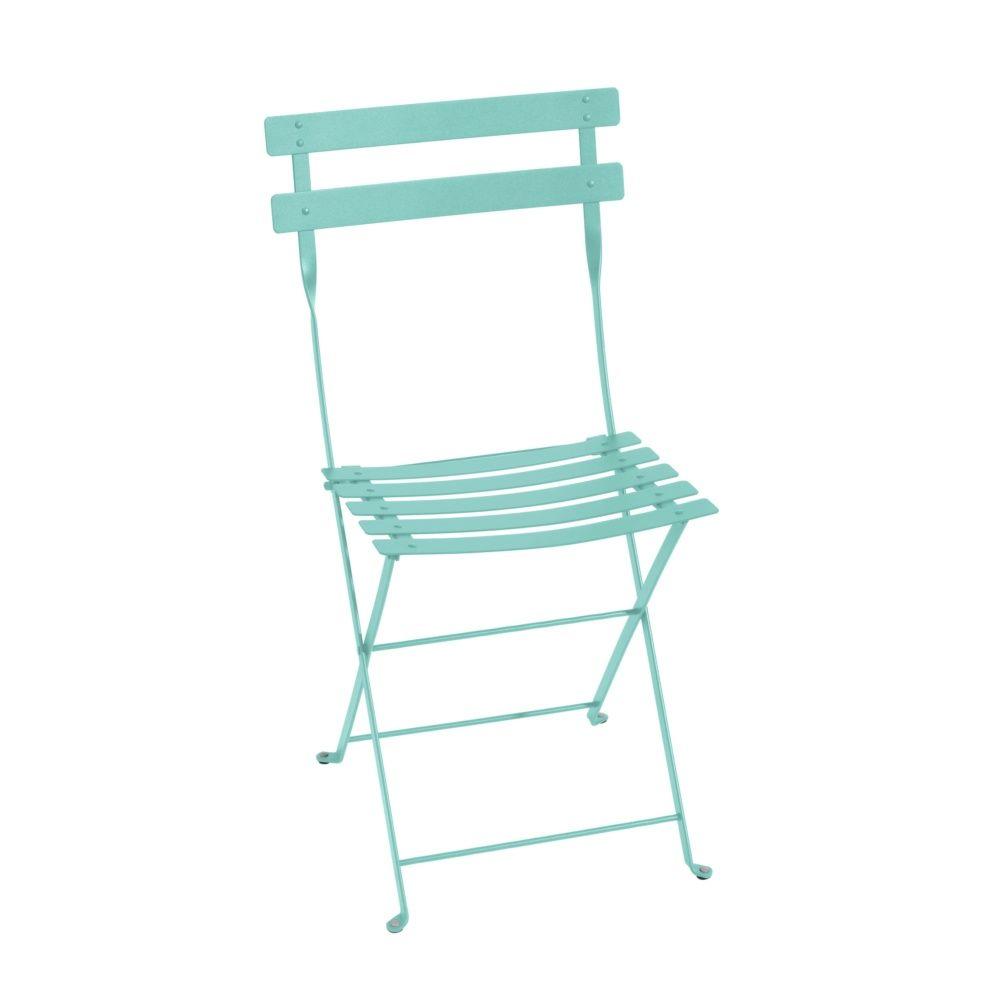 chaise pliante fermob bistro acier bleu lagune 96 5 x 16 x 44 cm gamm vert. Black Bedroom Furniture Sets. Home Design Ideas