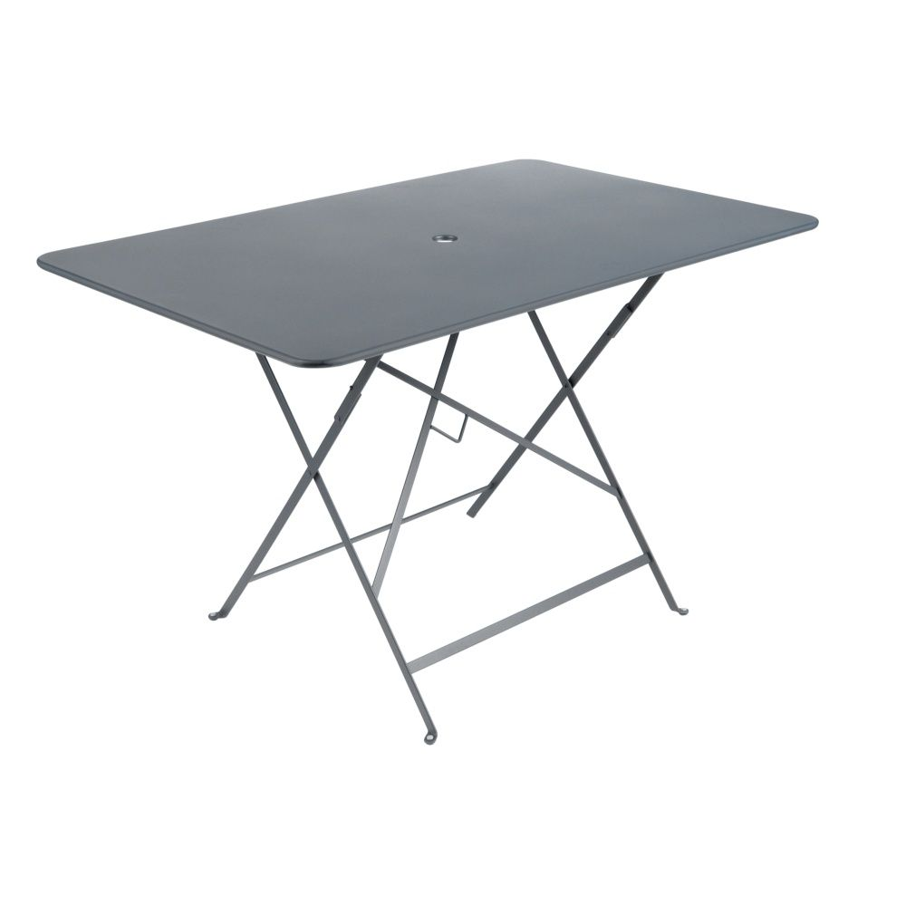 Table de jardin pliante Fermob Bistro acier l117 L77 cm gris orage