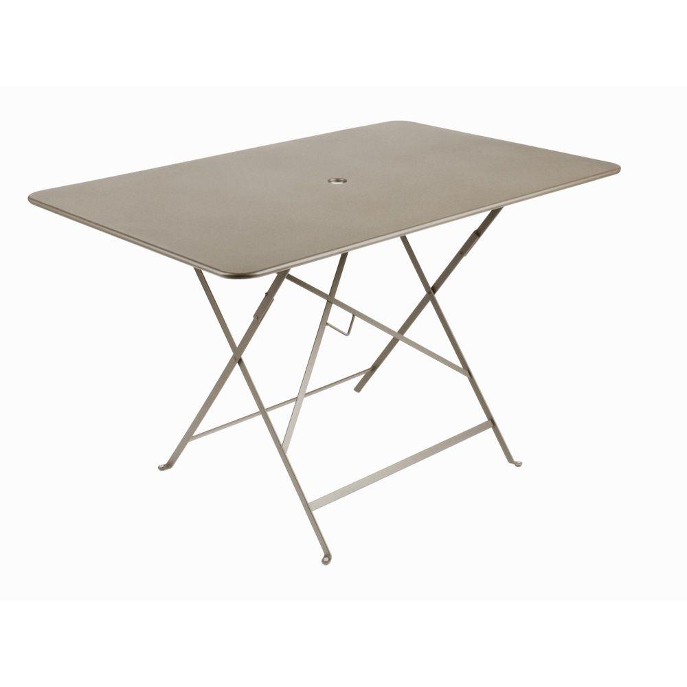 Table de jardin pliante Fermob Bistro acier l117 L77 cm muscade 119 ...