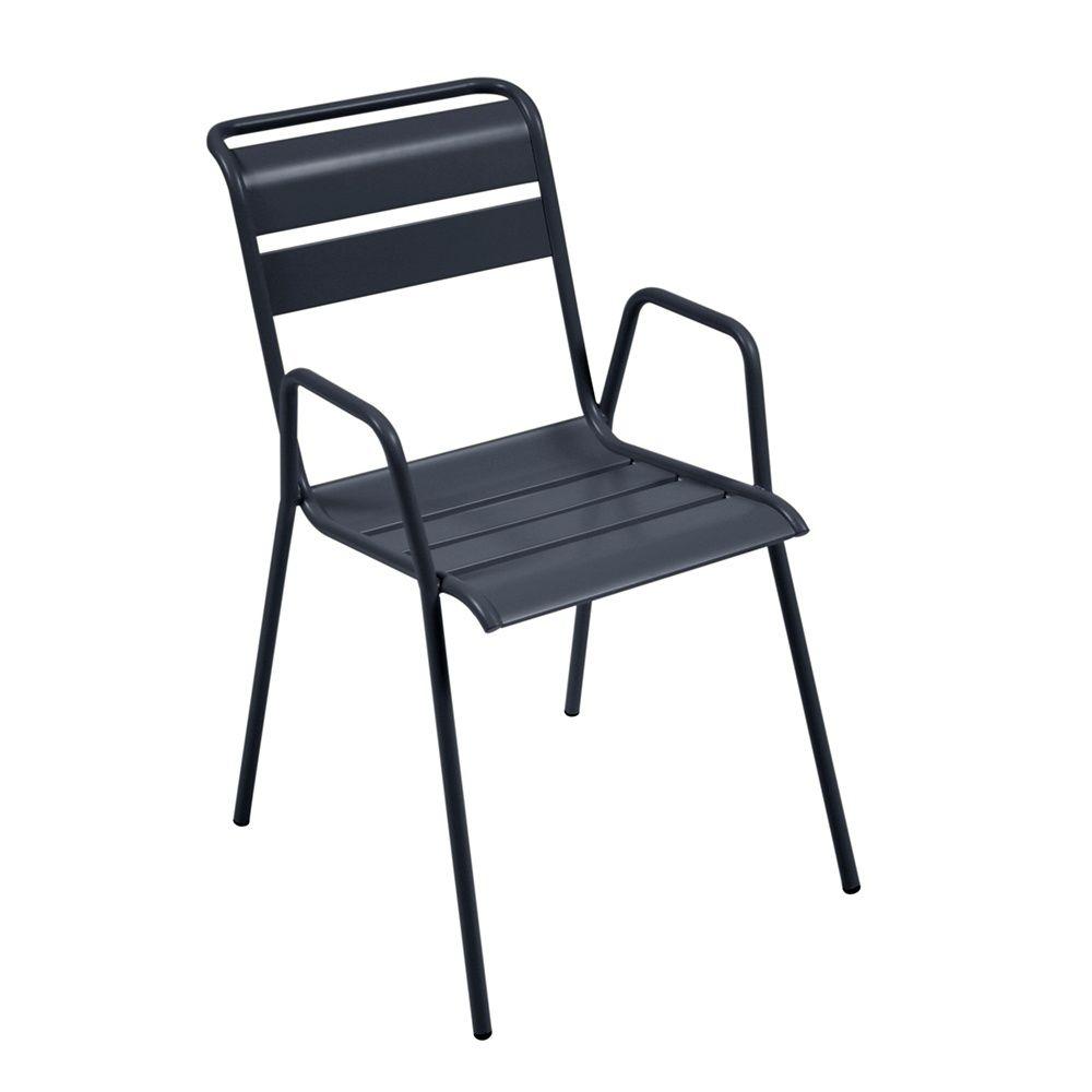 chaise empilable fermob monceau acier carbone 68 5 x 53 5. Black Bedroom Furniture Sets. Home Design Ideas