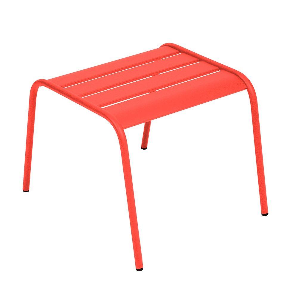 Table basse repose-pieds Fermob Monceau acier capucine