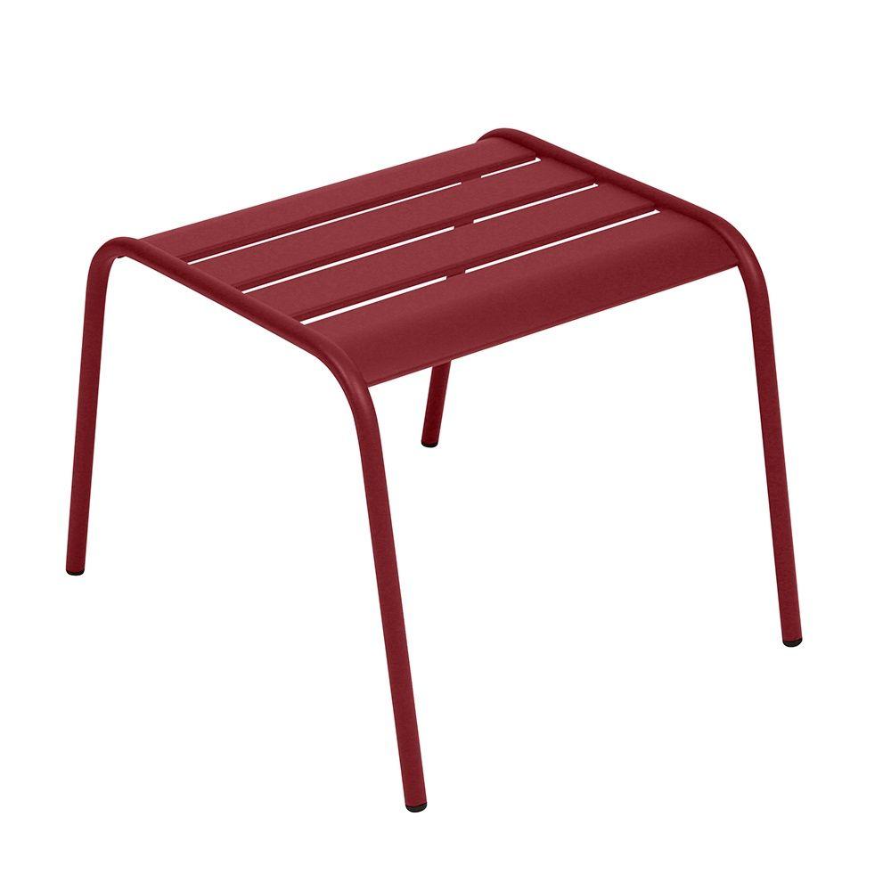 Table basse repose-pieds Fermob Monceau acier piment