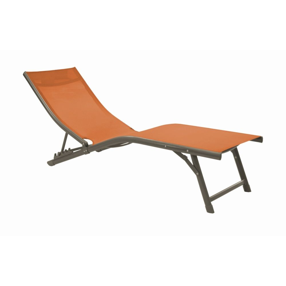 bain de soleil fuji relax aluminium textil ne orange 140 x 52 x 62 cm gamm vert. Black Bedroom Furniture Sets. Home Design Ideas