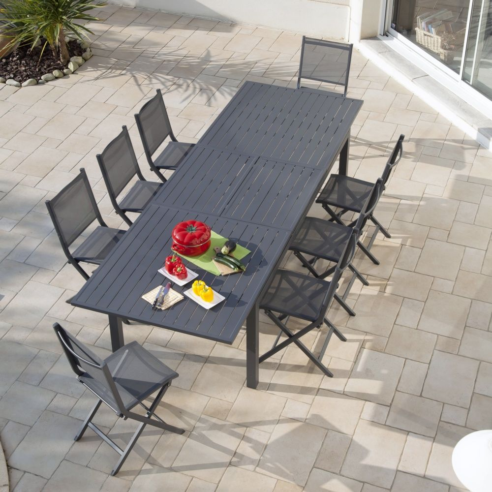 Stunning Table De Jardin Aluminium Ice Gris Ideas - Amazing House ...