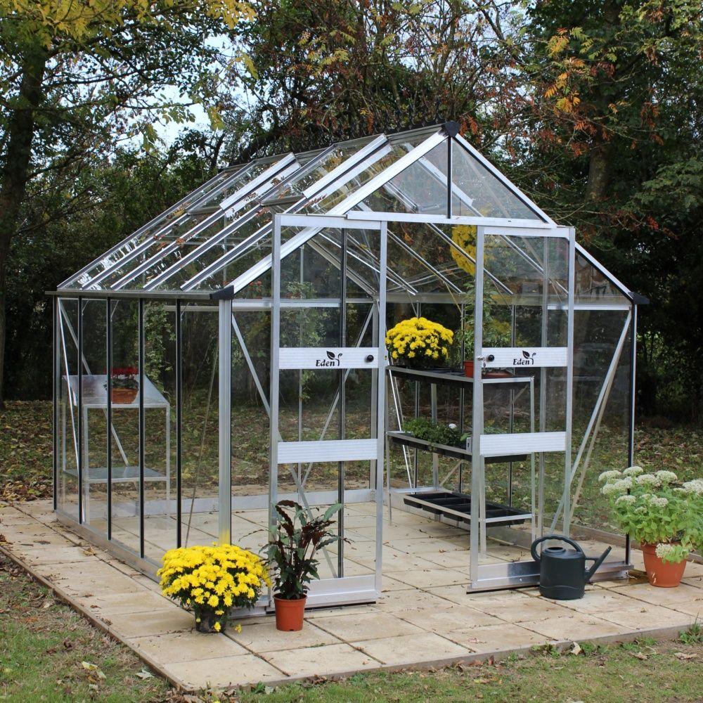 serre de jardin blockley verre tremp 9 7 m kit accessoires embase plusieurs colis gamm vert. Black Bedroom Furniture Sets. Home Design Ideas