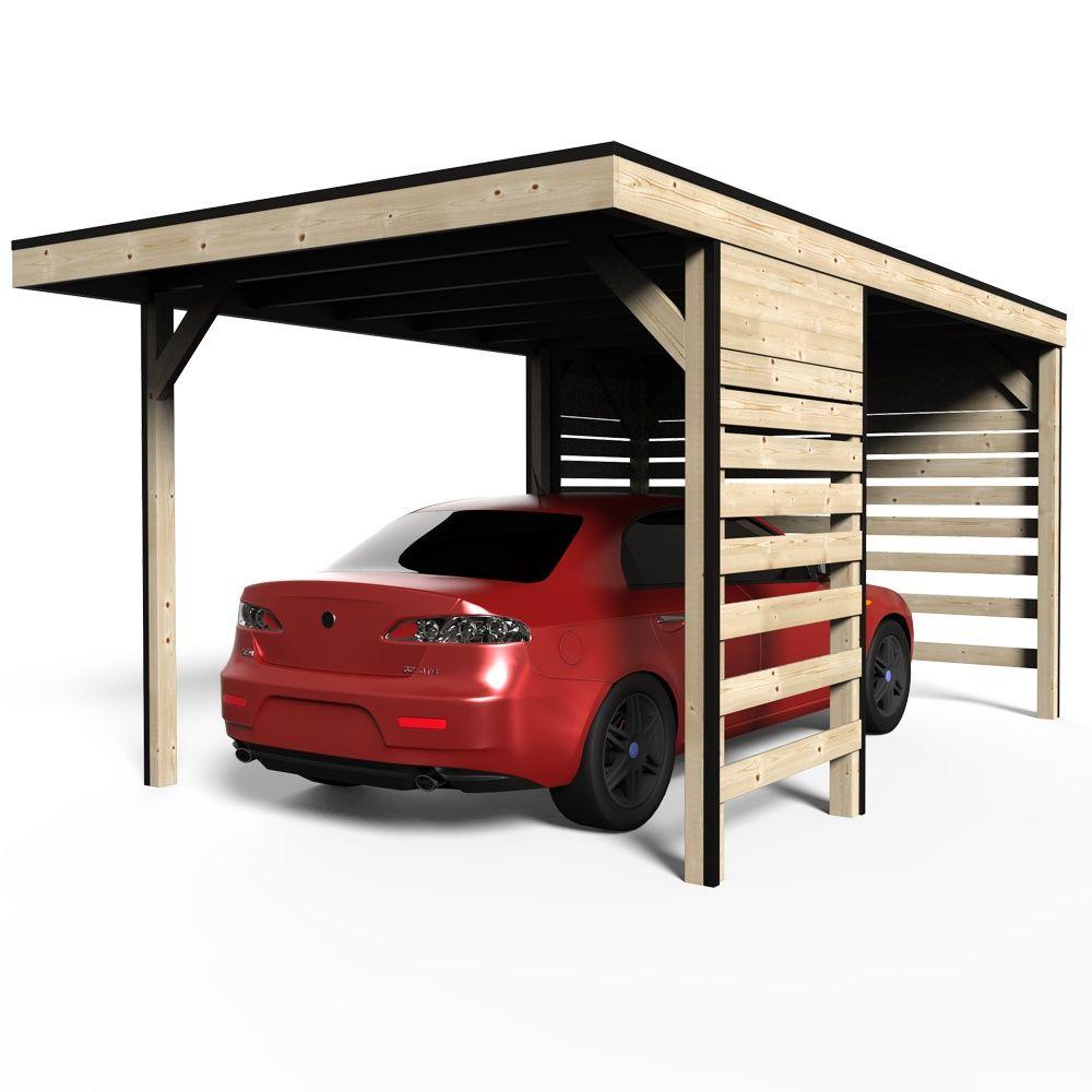 Carport bois trait autoclave elite 14 59 m dimensions for Garage bois traite autoclave