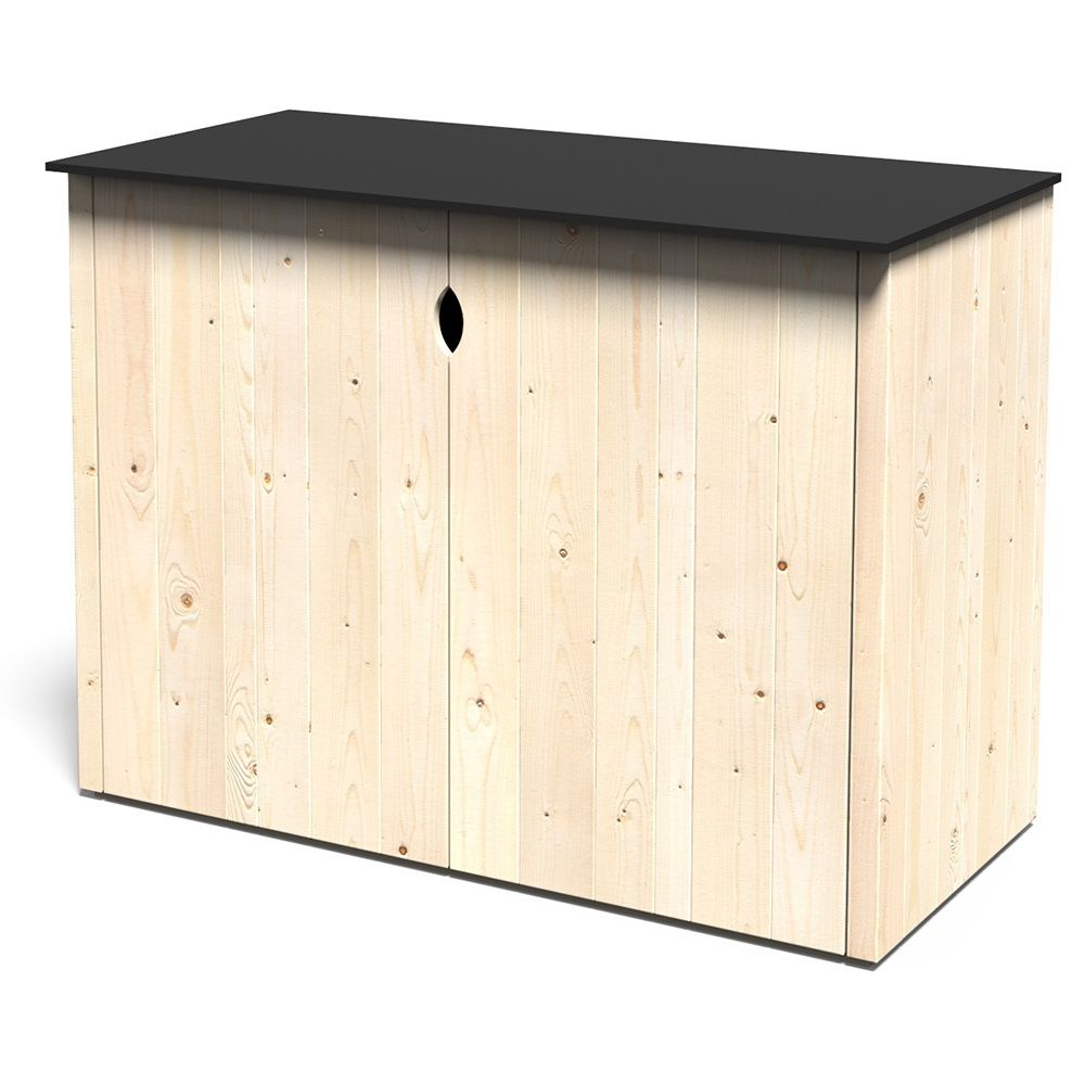 armoire de jardin bois vertigo l112 h91 cm colis l. Black Bedroom Furniture Sets. Home Design Ideas