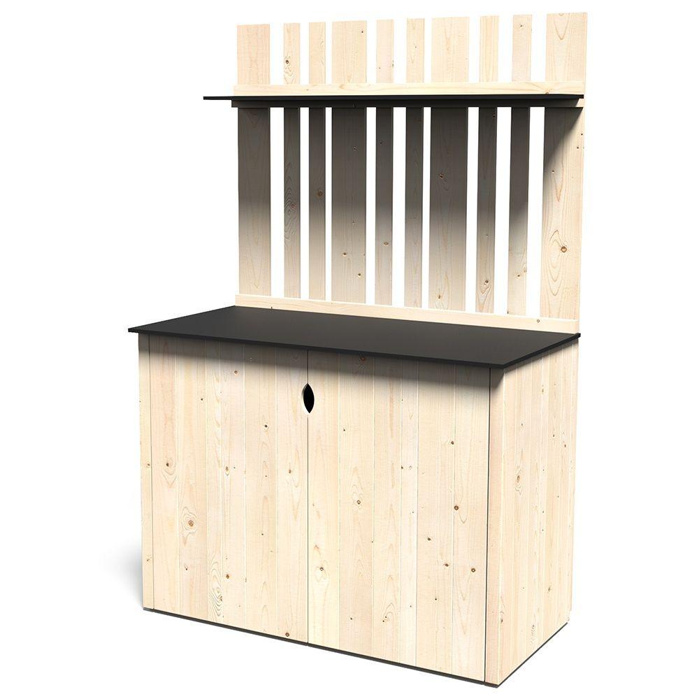 Armoire de jardin bois Vertigo L122 H180 cm l180 x l124 x H30 cm ...