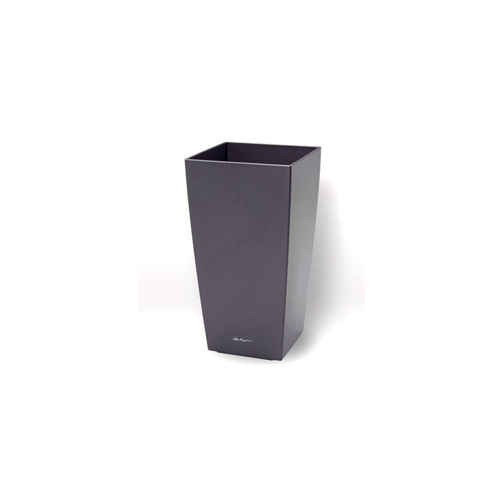 Pot Lechuza Maxi-cubi L14 H26 cm noir