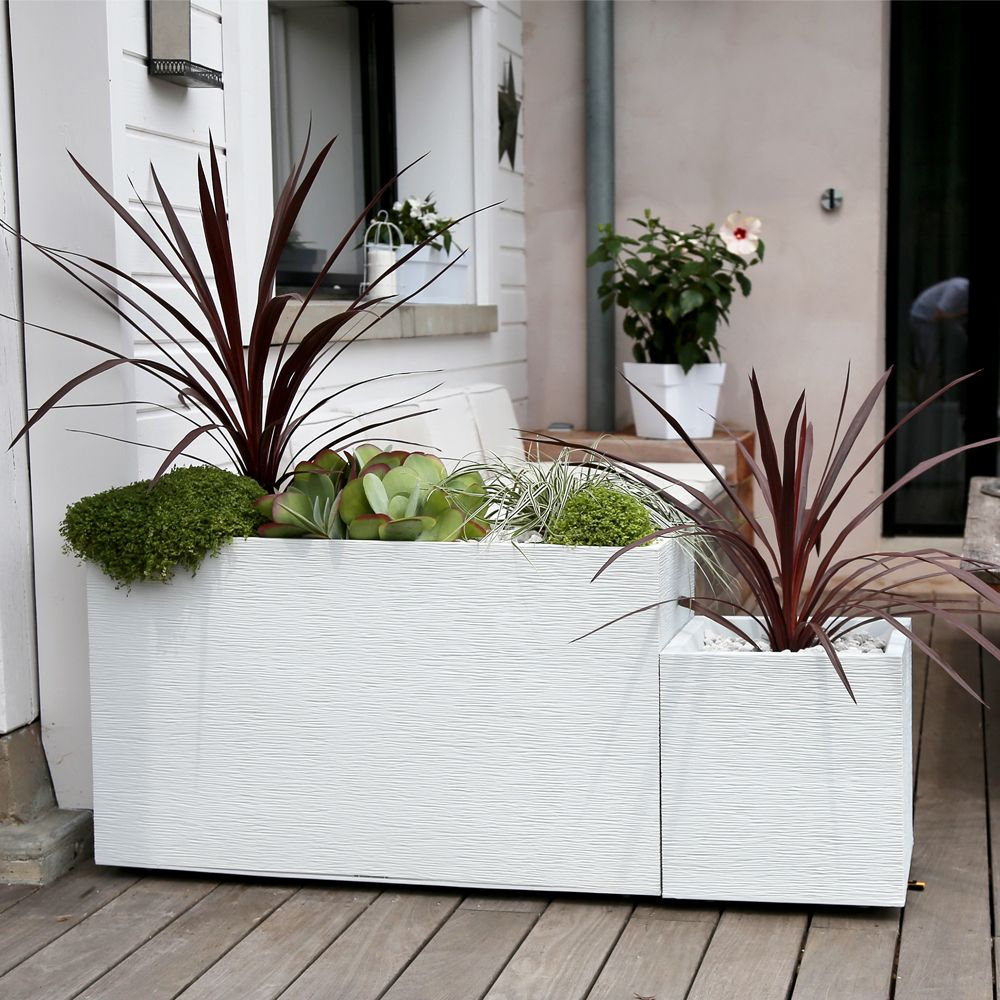 muret graphit r sine l99 5 h60 cm blanc h60 x l39 x l100 cm kg gamm vert. Black Bedroom Furniture Sets. Home Design Ideas