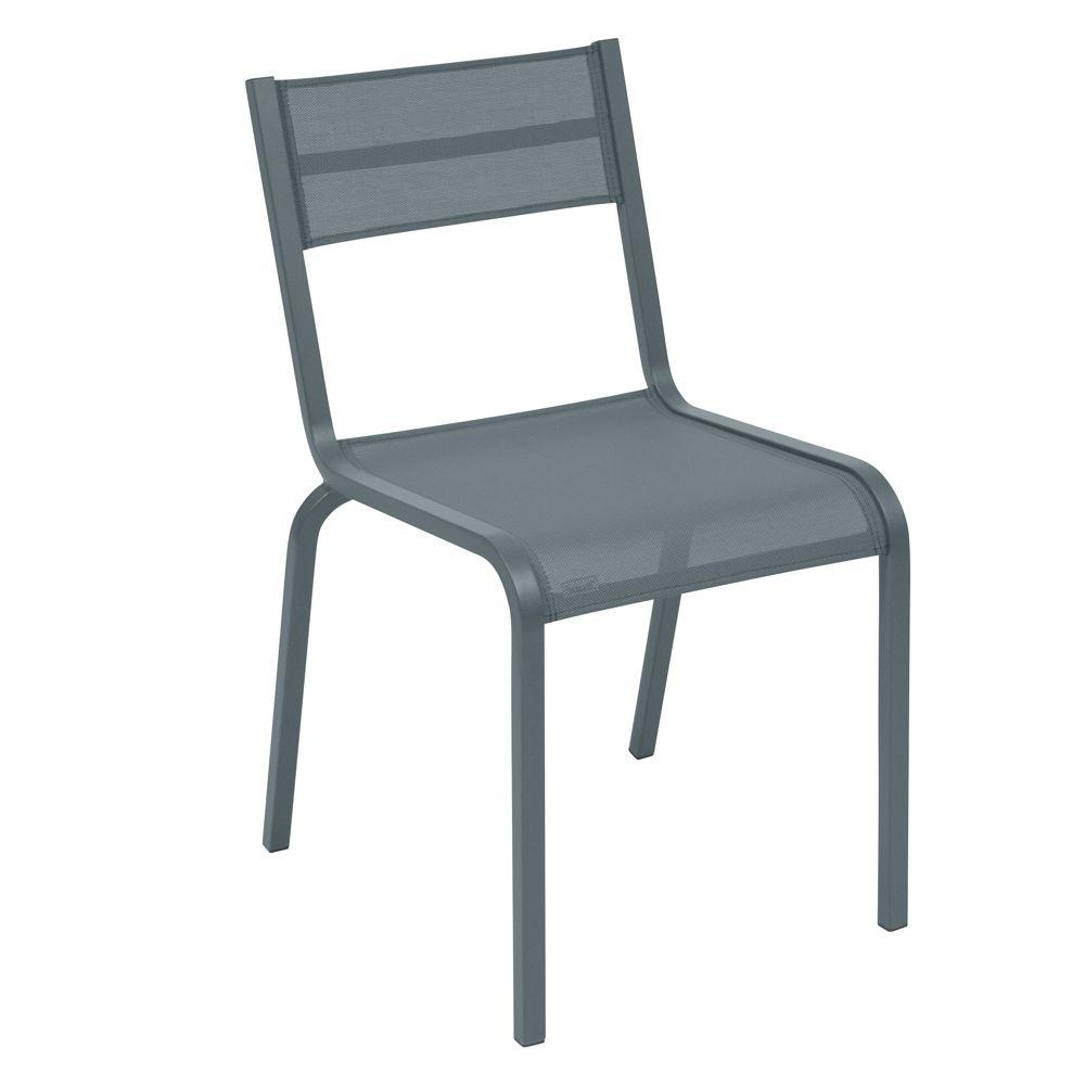 Chaise Fermob Oléron aluminium/textilène gris orage
