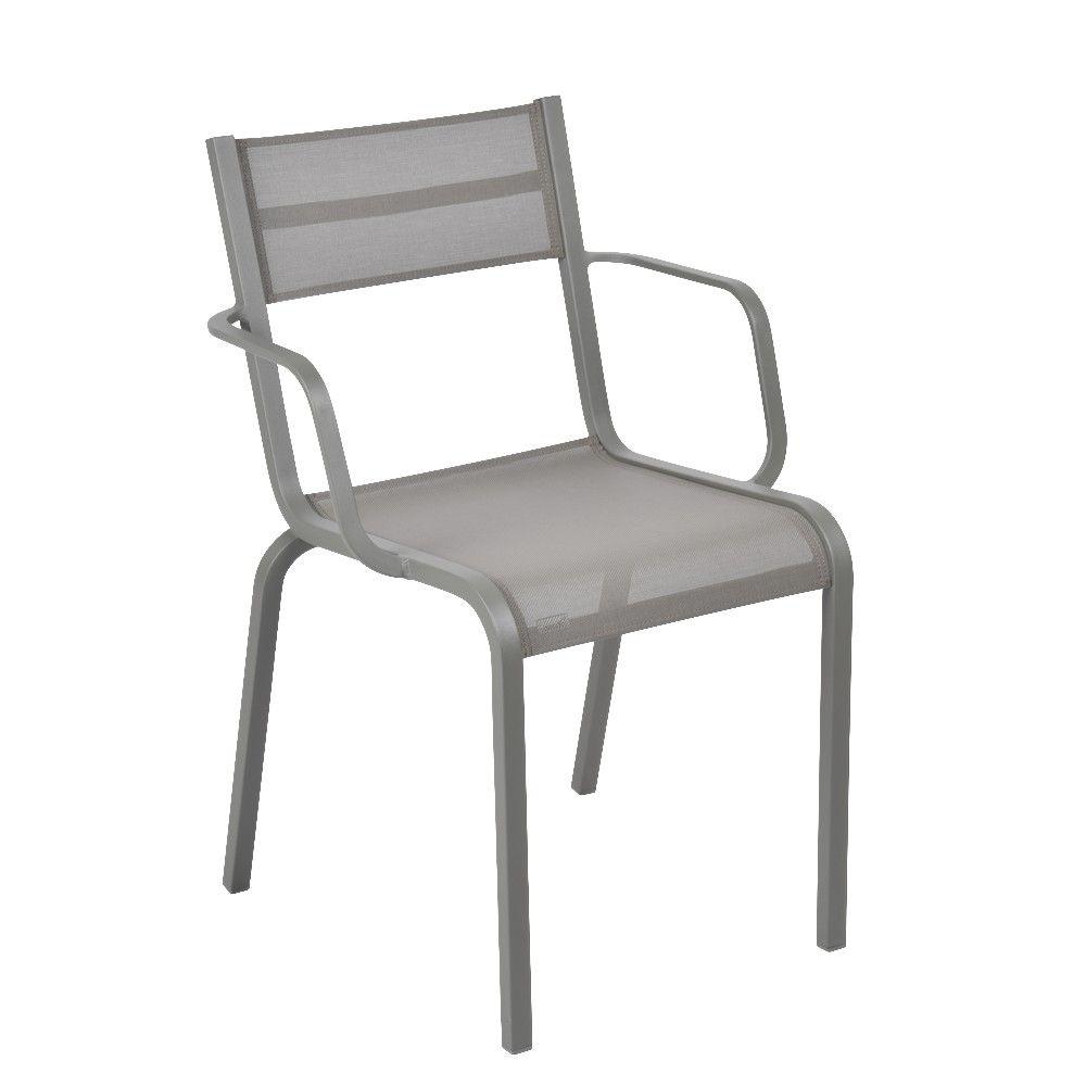 Fauteuil Fermob Oléron aluminium/textilène romarin