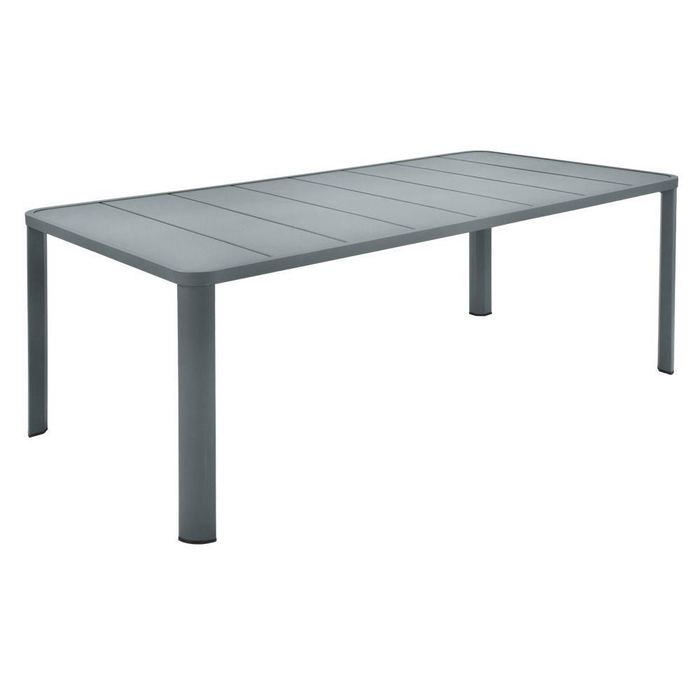 table de jardin fermob ol ron l205 l100 cm aluminium gris. Black Bedroom Furniture Sets. Home Design Ideas