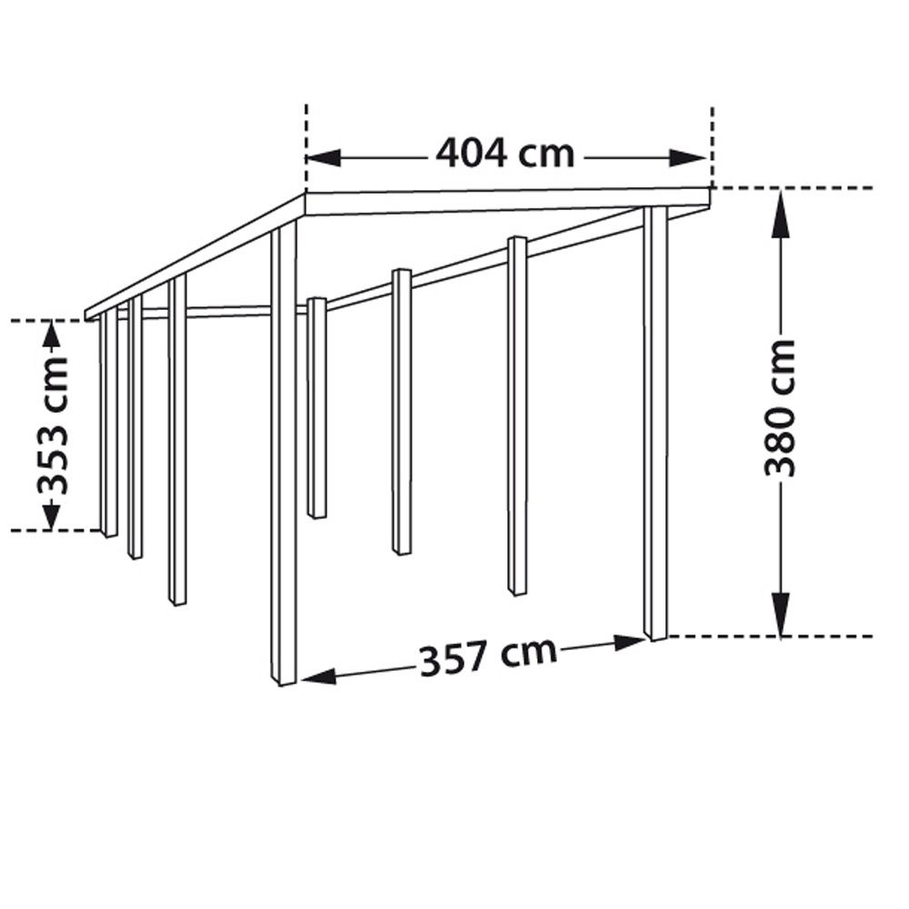 carport camping car bois trait autoclave 32 40 m colis. Black Bedroom Furniture Sets. Home Design Ideas