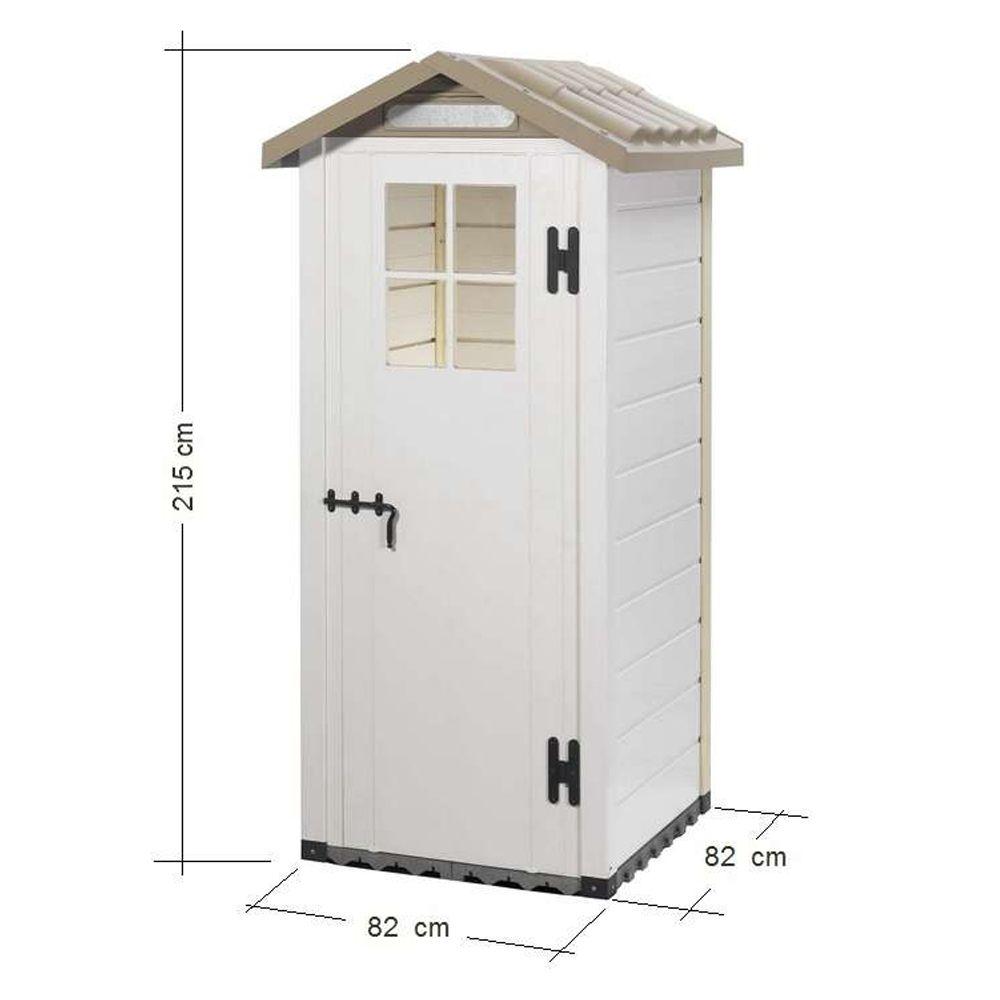 petit abri de jardin r sine pvc 0 67 m ep 22 mm evo 80 1 colis l 85 x p 21 x h 182 cm gamm vert. Black Bedroom Furniture Sets. Home Design Ideas