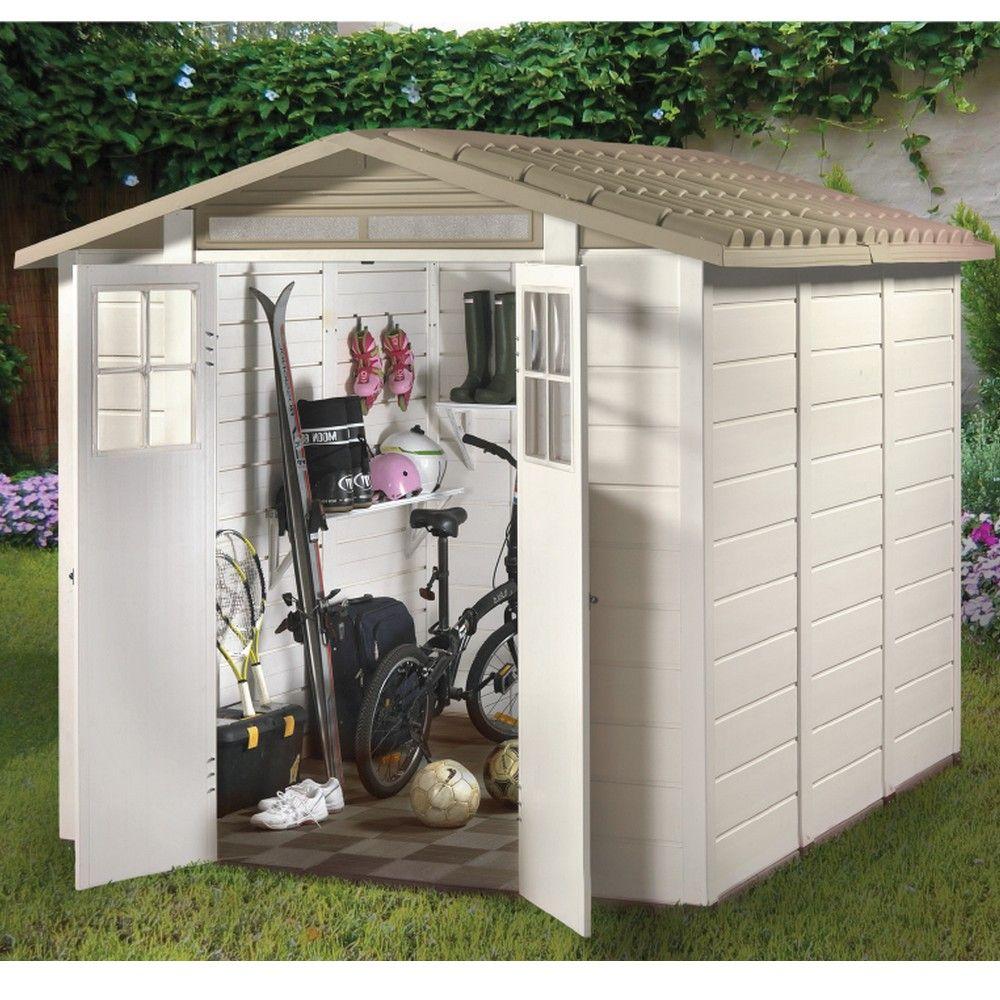 petit abri de jardin r sine pvc 6 03 m ep 22 mm evo 240 4 colis gamm vert. Black Bedroom Furniture Sets. Home Design Ideas