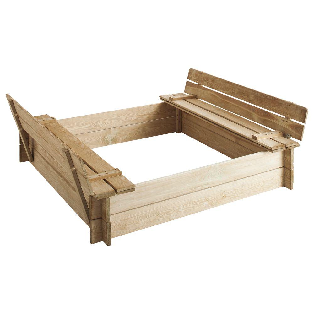 bac sable bois trait papillon l125 x p49 5 x h14 5 cm 29 kg gamm vert. Black Bedroom Furniture Sets. Home Design Ideas