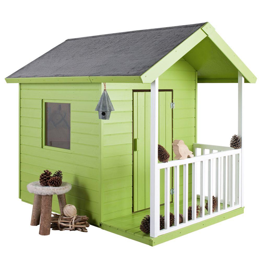 Maisonnette enfant bois kangourou l125 x p120 x h120 cm - Maisonette enfant bois ...