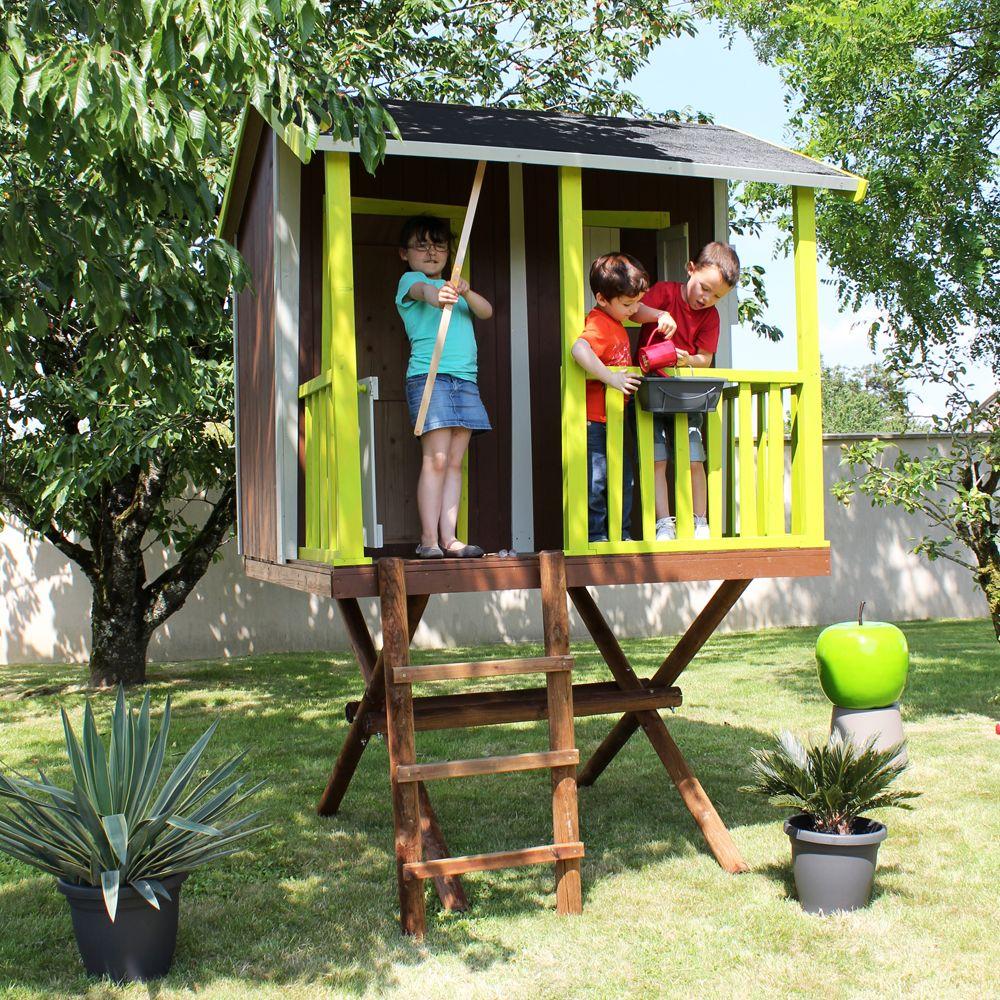 maisonnette enfant bois cabane dans les arbres 2 colis. Black Bedroom Furniture Sets. Home Design Ideas