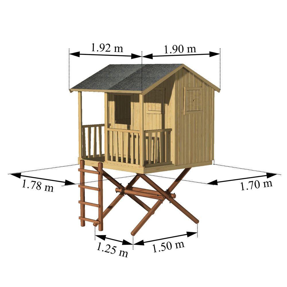 maisonnette enfant bois cabane dans les arbres 2 colis 135 x 115 x 30 117 kg 24 x 190 x 16. Black Bedroom Furniture Sets. Home Design Ideas
