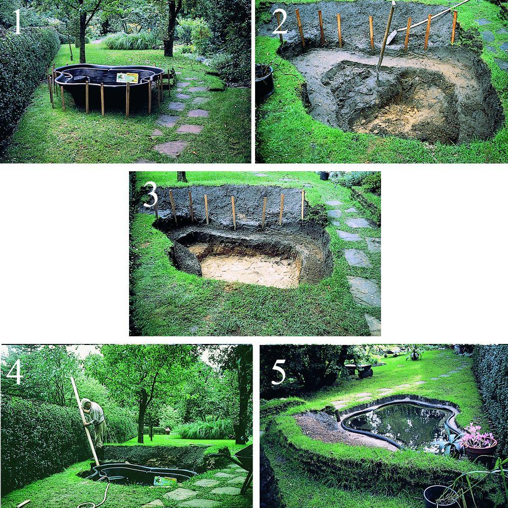 Bassin pr form en hdpe ubbink 2000l gamm vert for Bache pour bassin grande taille