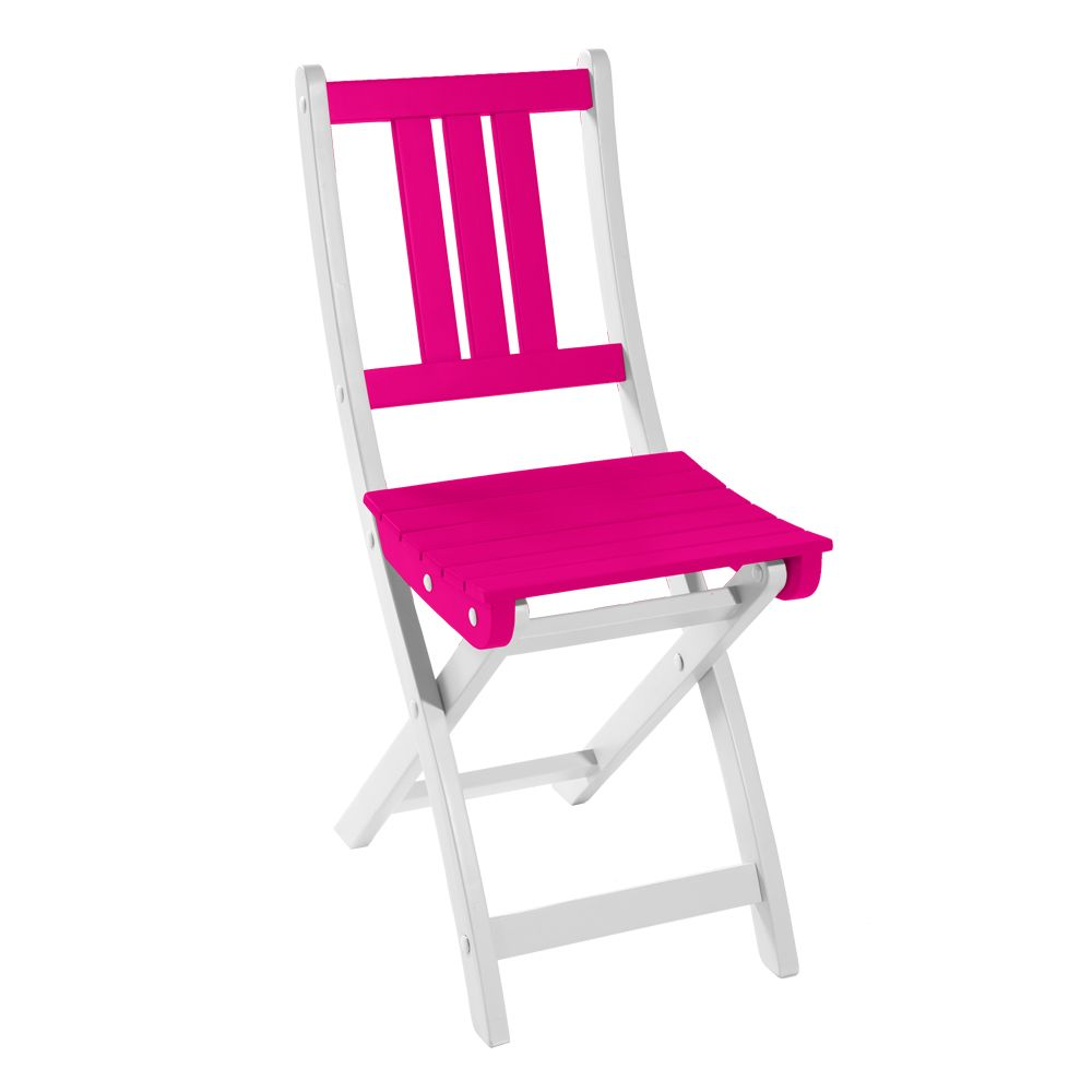 chaise pliante city green burano bois fuchsia h12 x l36 x. Black Bedroom Furniture Sets. Home Design Ideas