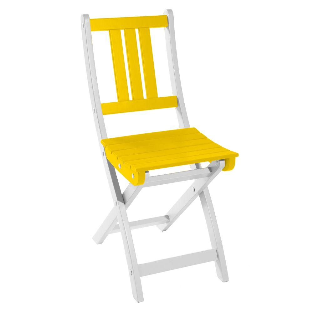 Chaise pliante City Green Burano bois jaune