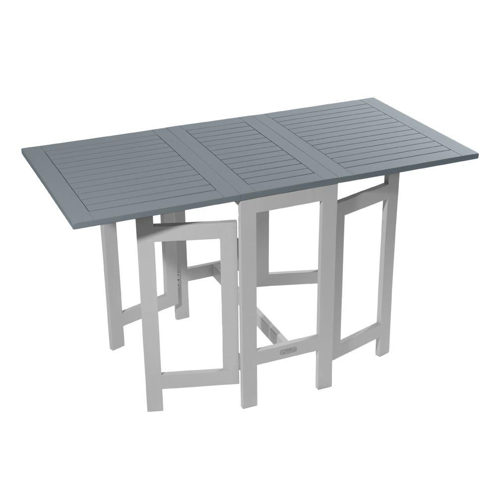 table console pliante city green burano bois l37 135 l65 cm gris h37 x l66 x l75 cm 18 5 kg. Black Bedroom Furniture Sets. Home Design Ideas