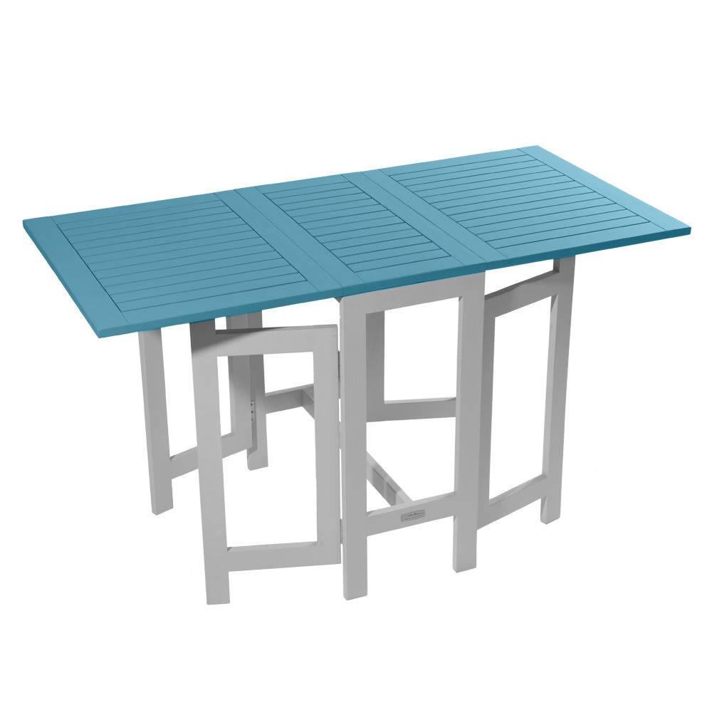 table console pliante city green burano bois l37 135 l65 cm bleu h37 x l66 x l75 cm 18 5 kg. Black Bedroom Furniture Sets. Home Design Ideas