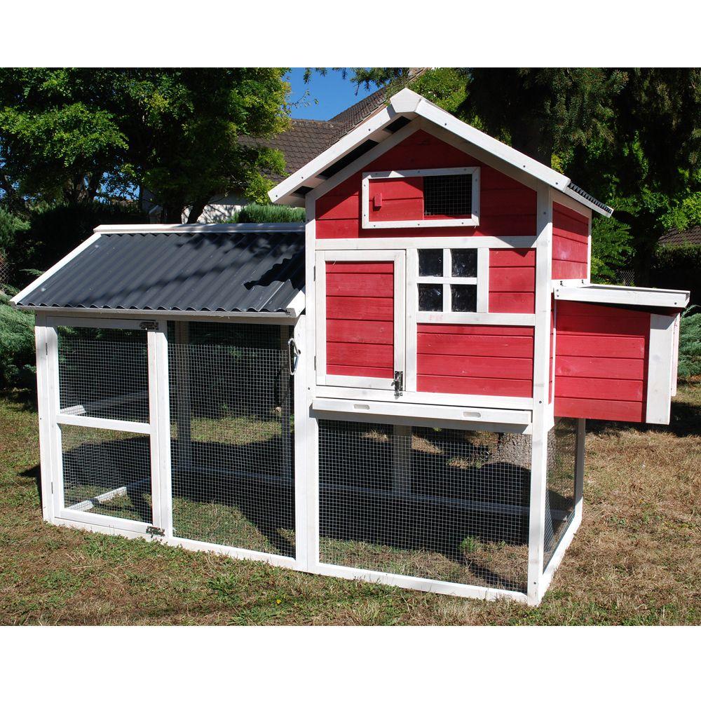 poulailler house ii 4 5 poules 158 x 94 5 x 15 5 cm. Black Bedroom Furniture Sets. Home Design Ideas