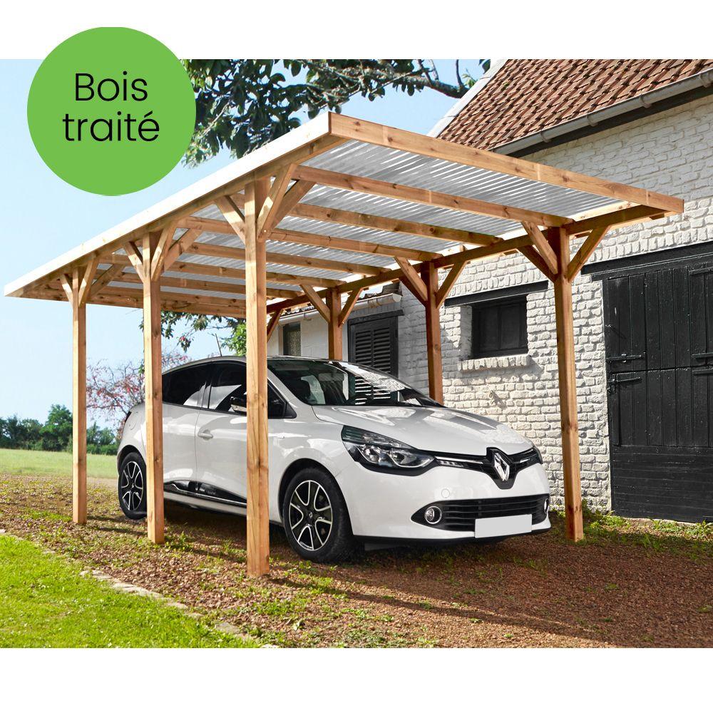 carport bois trait autoclave madeira max 15 72 m 300 x 120 x 32 cm 190 kg gamm vert. Black Bedroom Furniture Sets. Home Design Ideas