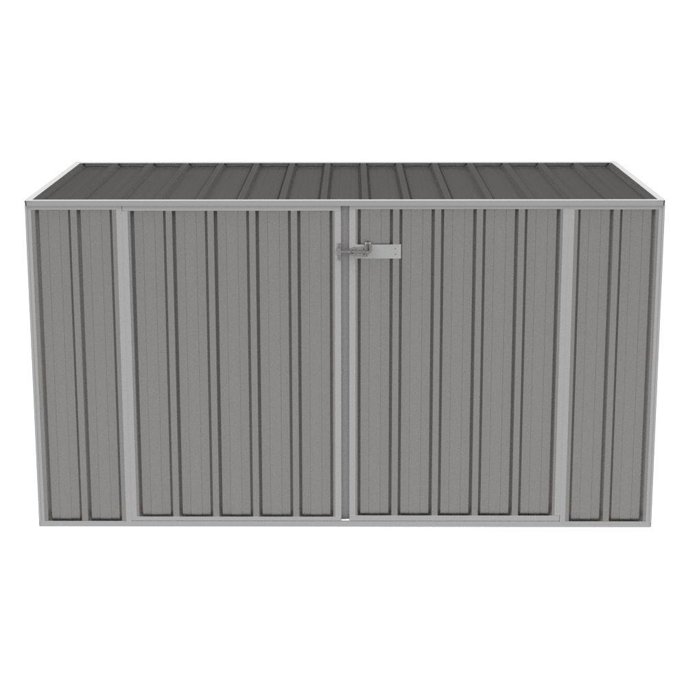 Coffre de jardin métal Jasper 1,41 m² gris 212 x 86 x 8 cm - Gamm Vert