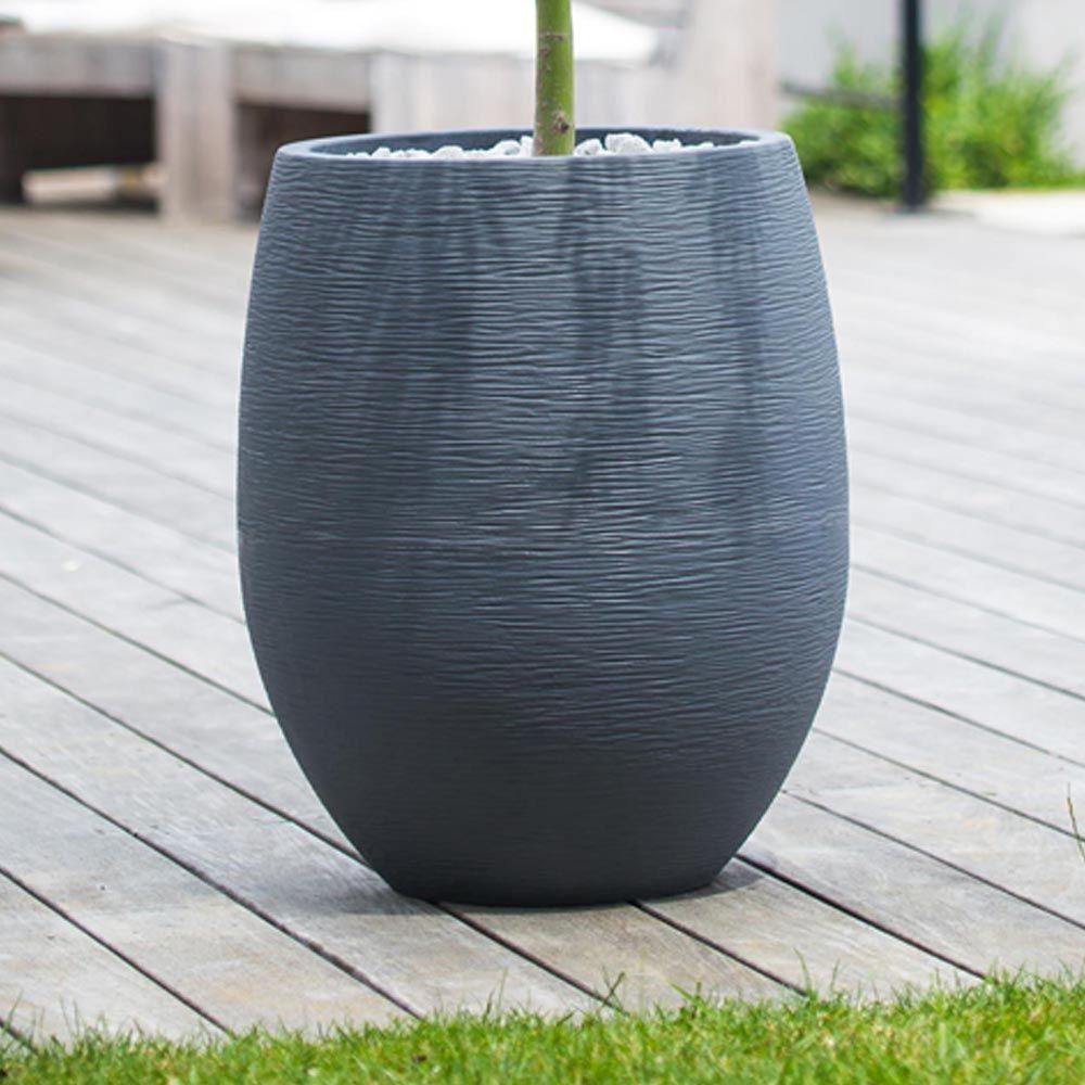 pot eda egg graphit r sine 50 h60 cm anthracite gamm vert. Black Bedroom Furniture Sets. Home Design Ideas