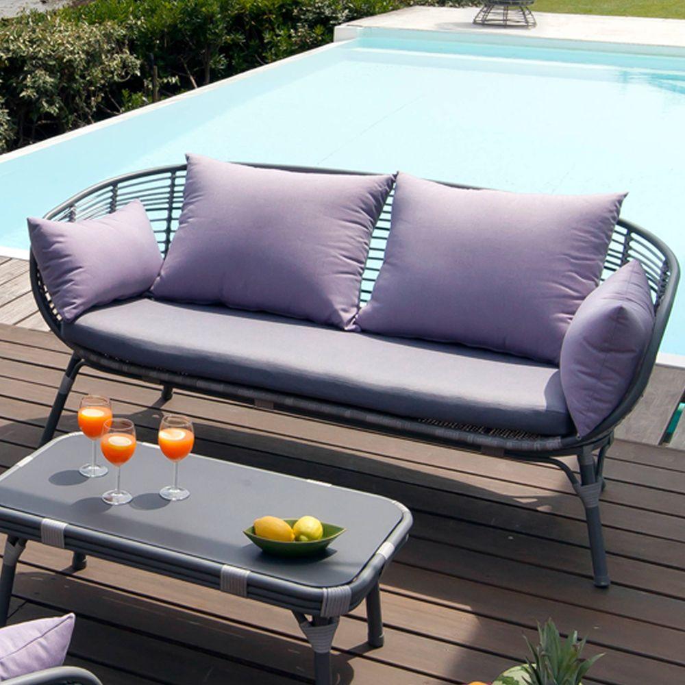 Salon de jardin arguin aluminium r sine table basse 2 - Salon de jardin aluminium magasin vert ...