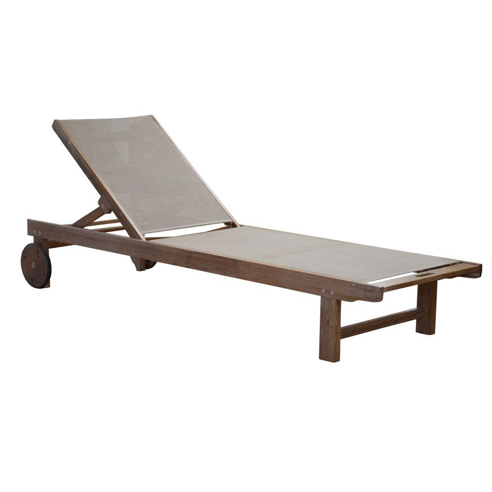 bain de soleil theria bois toile taupe 204 x 66 x 11 cm. Black Bedroom Furniture Sets. Home Design Ideas